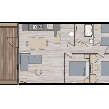Chalet GRAND LARGE 6/8 personnes 3 chambres